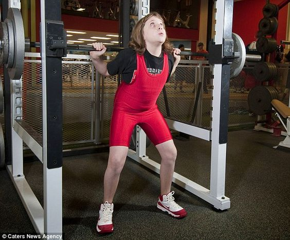 The 10 year old school girl that broke the world weightlifting record (more then twice her own weight) previously held by a 44 year old.: Girls, 44 Year, Weightlifting Record, Weights, 10 Years