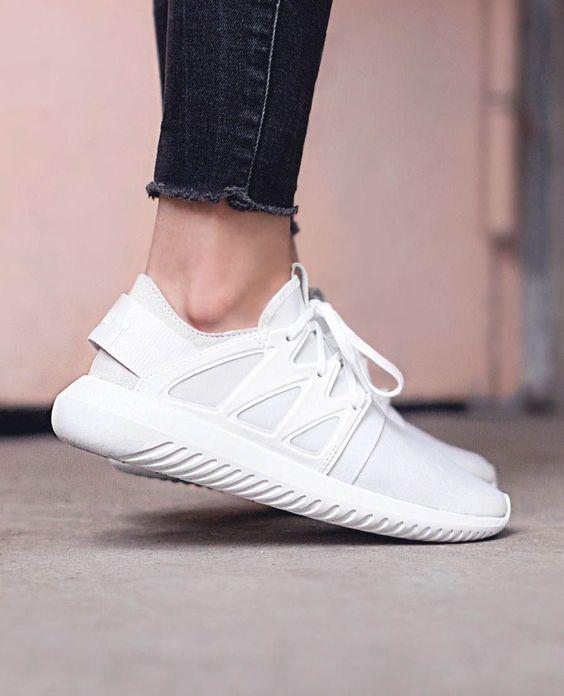 white adidas tubular !! 7.5-8