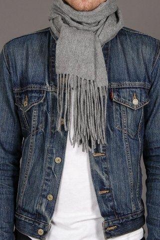 scarf and denim