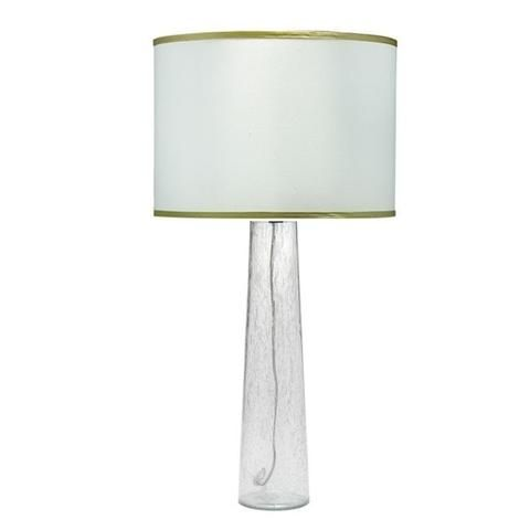 Tall Sleek And Clean This Pillar Table Lamp By Jamie Young Commands Attention In Any Room A Clear Seeded Glass Base Pairs With A Table Lamp Lamp Drum Shade