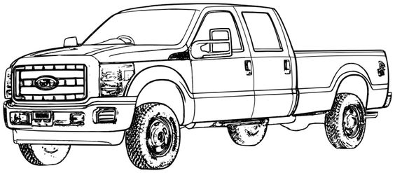 ford trucks  coloring pages and trucks on pinterest