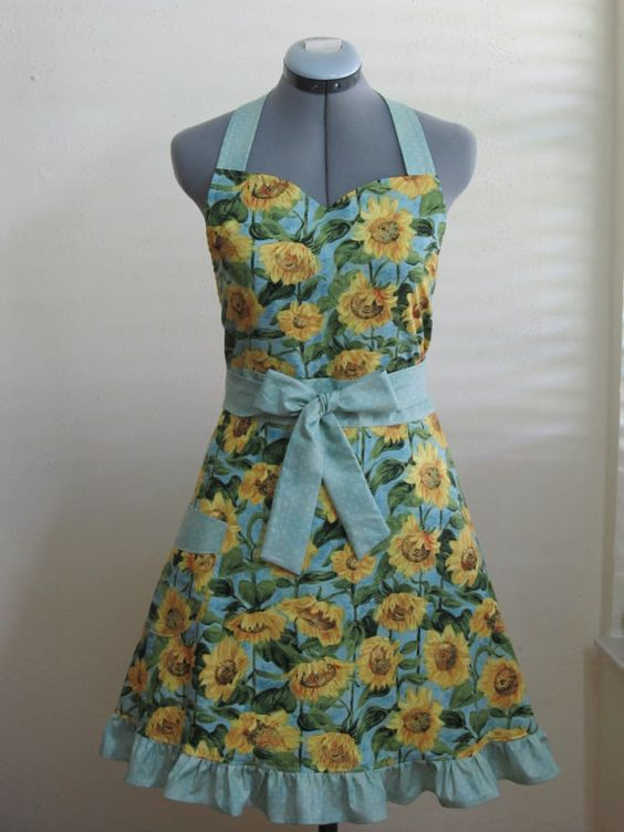 Sunflower's Delight Apron Sexy and Elegant  With by AquamarCouture, $37.00