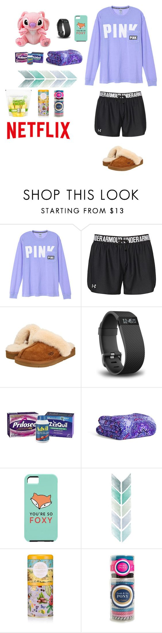 """""""😷I'm Sick🤒"""" by nerdgirl18 ❤ liked on Polyvore featuring Under Armour, INC International Concepts, UGG Australia, Fitbit, Vera Bradley and L. Erickson"""