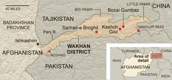 Map of Wakhan