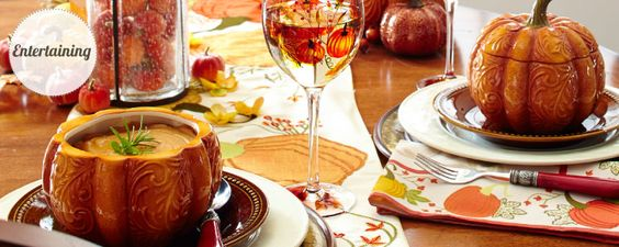 Fall autumn table decorations dinnerware pier