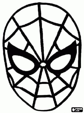 How To Draw Iron Man Step 7   For Kids And Children further Spiderman Silhouette 10 likewise Fox Racing Stencil as well Knight Helmet Outline besides Hayvan Maskeleri Boyama. on spider head
