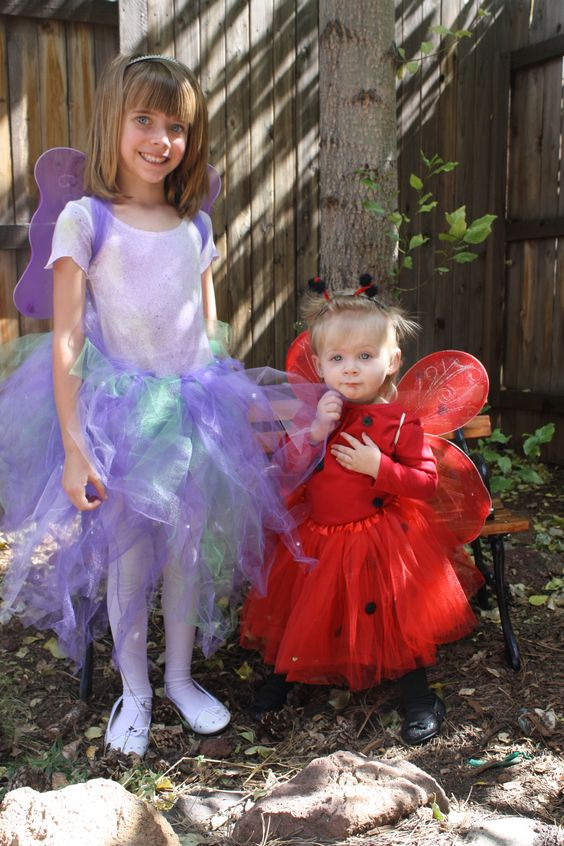 Super easy tutus can be made into any costume!  I made Emma a ladybug and Ashlyn a fairy last year for Halloween and I would love to do it again!