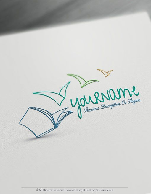 Create Your Own Education Logo Free Open Book Logo Templates