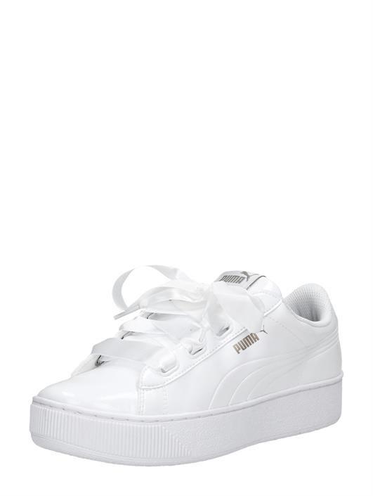 Puma Vikky Platform Ribbon wit | Schoenen, Sneaker