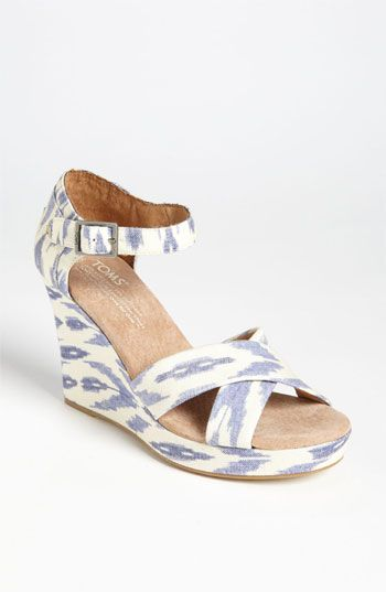 TOMS 'Ikat' Wedge Sandal available at #Nordstrom ~ These are so cute!~B