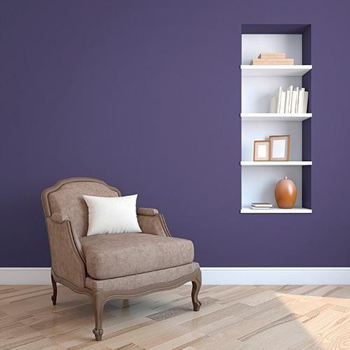 Dark Purple Peel And Stick Paint Countryside Purple Tempaint Purple Wall Paint Dark Purple Walls Purple Bedroom Walls