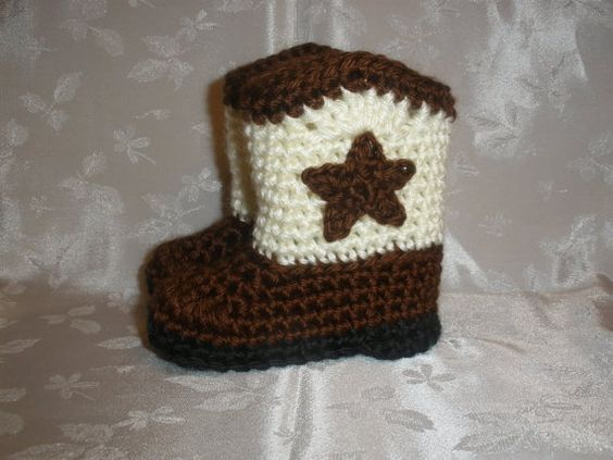 CROCHET BABY COWBOY BOOTS - Have to make some of these! | Crochet ...