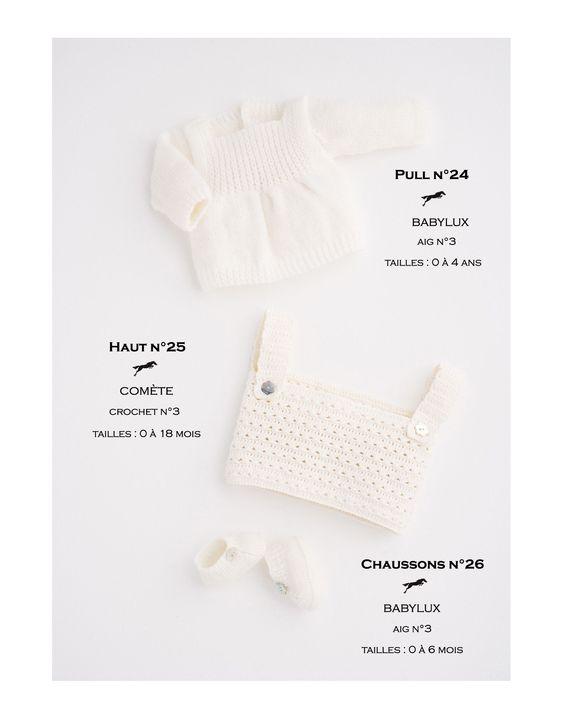 Modèle chaussons CB16-26 - Patron tricot gratuit