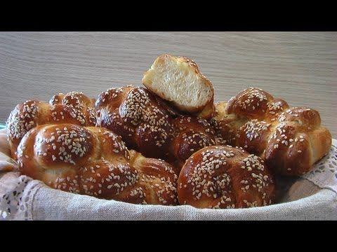 """Плетеные булочки с кунжутом """"Пита майзе"""" - кулинарный рецепт"""