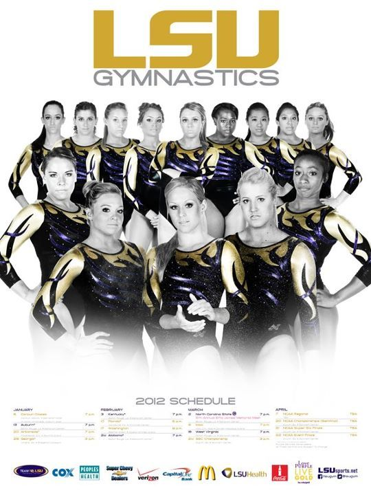 2012 LSU Gymnastics Poster will be available at the Feb. 3 meet vs. Kentucky at 7 p.m. or online at LSUsports.net/posters.
