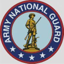 Cross Stitch Chart Pattern of the US Army National Guard