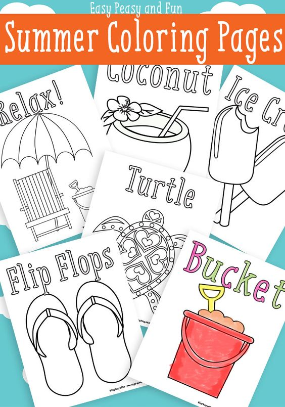 Summer Coloring Pages {Free Printable} - Easy Peasy and Fun