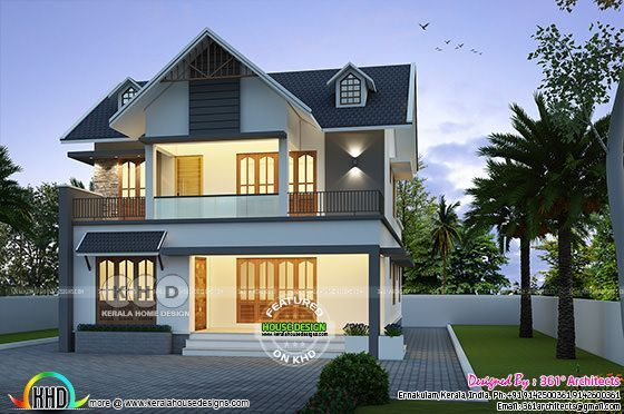 42 Lakhs Cost Estimated European Style Home European Style Homes House Design House Plans