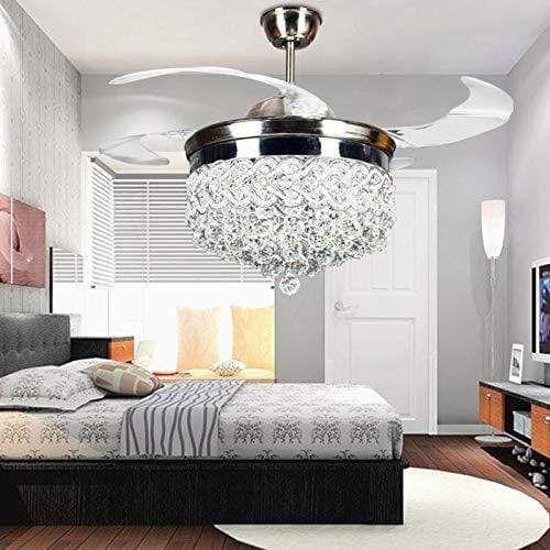 Heart Shaped Crystal Fan Ceiling Lamp Lamps Living Room Fan Light Ceiling Fan With Light