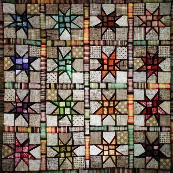 Wonky Stars - illuminated patchwork