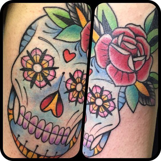 Tattoo tatuaggio teschio messicano mexicanskull