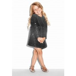 MILLY MINIS SEQUIN WOOL A-LINE COAT