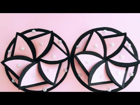 مطوية رووووعة مطوية الوردة مطوية سهلة جدااا بطاقة معايدة مطوية مدرسية على شكل وردة Card Youtube Paper Crafts Crafts Round Glass
