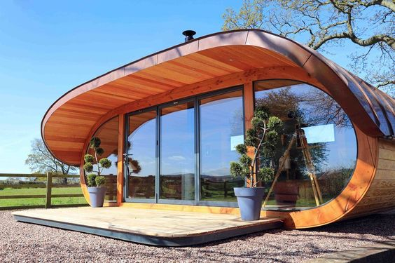 <p>This space-age outdoor pod sits in Bryan Lewis Jones' Benbighshire…