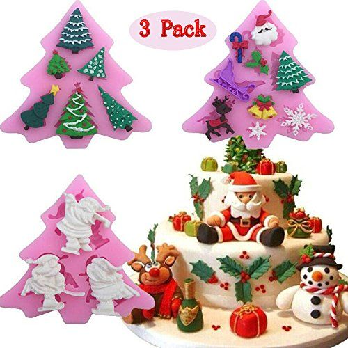 Christmas Silicone Fondant Mold Candy Cake Decoration Chocolate Mould Sugarcraft