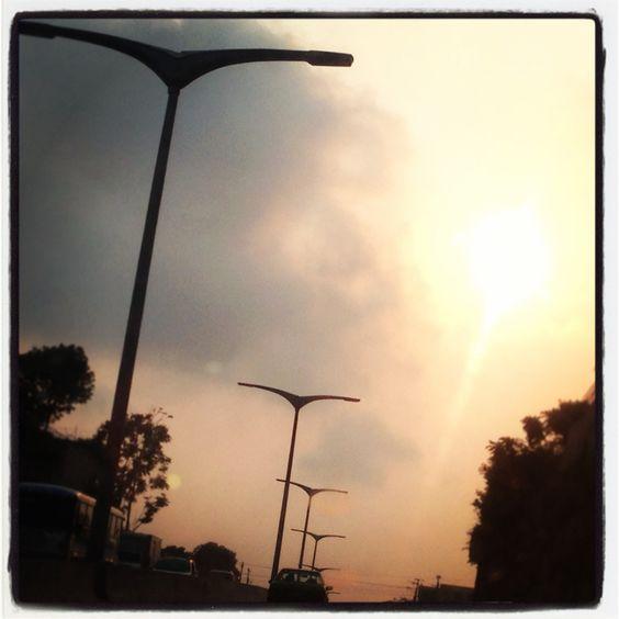 Lámparas en carretera, El Salvador