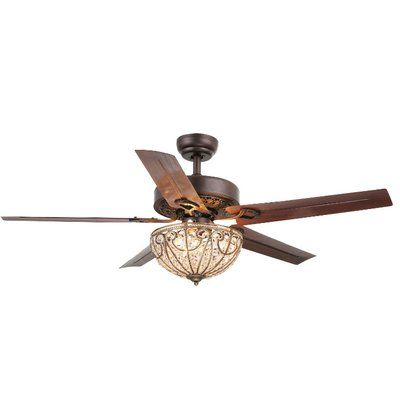 Astoria Grand 5 Blade Ceiling Fan Light Kit Included Ceiling