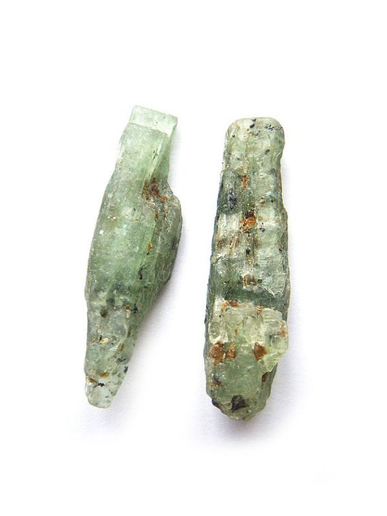 Very Rare Natural Green Kyanite Earrings by NakiaDesign on Etsy, $25.99 #jewelry #ooak #handmade