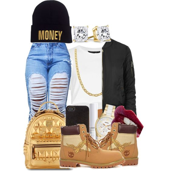 "now im four five seconds from wilin and we got three more days till friday im just tryna make it back hone by monday mornin"" rihanna by loyalartist607 on Polyvore featuring Topshop, Timberland, MCM, FOSSIL, Fremada, Henri Bendel, Charlotte Tilbury and Lord & Berry"