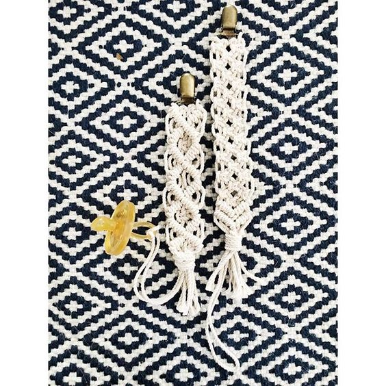 Now that ornaments are old news - starting to make some macrame pacifier clips - DM me if you want one! ➰ >> << . . . . . #macramama #macrame #macramaker #hippiestyle #bohostyle #gypsystyle #hippie #planthanger #candlehanger #hangingshelf #wallhang  #modernmacrame #fiberart #forsale #shoplocal #supporthandmade #handmade #mamamaker #temecula  #handmadegifts #shopsmall  #pacifier #pacifierclip: