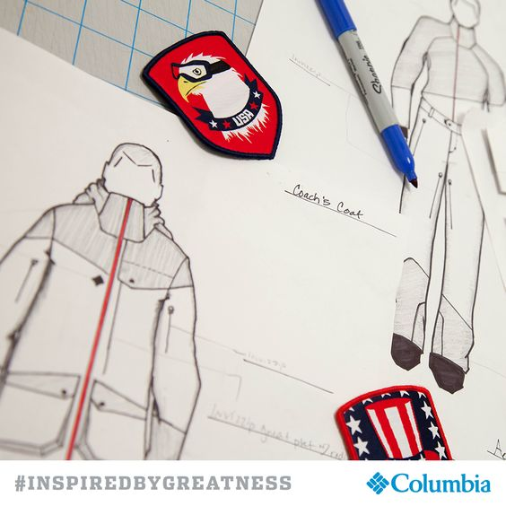 Designed by Columbia exclusively for athletes representing the USA. #INSPIREDBYGREATNESS