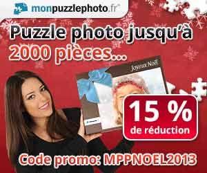 Mon Puzzle Photo : -15% de réduction sur tout le site grâce à un code promo | Maxi Bons Plans