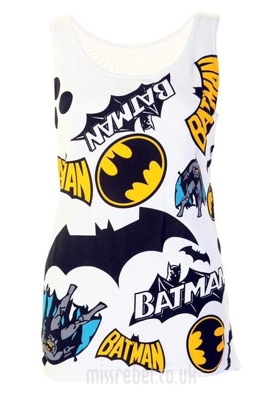 Batman Casual Tank Top - Womens Clothing Sale, Womens Fashion, Cheap Clothes Online | Miss Rebel