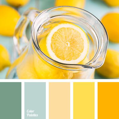Color palettes bright yellow and colors of green on pinterest - Colors that match with yellow ...