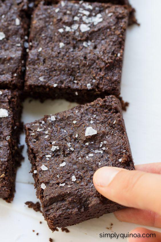Fudgy Salted Quinoa Brownies | Recipe | Coconut Sugar, Quinoa and Dark ...