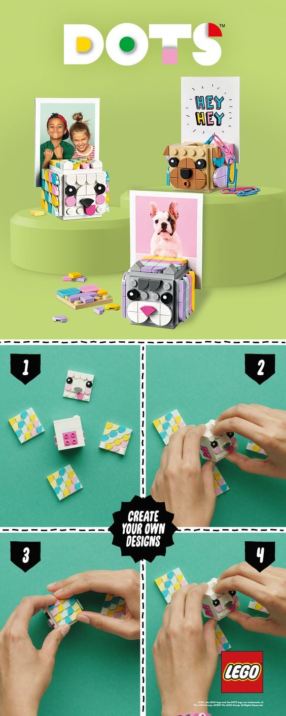 DIY LEGO DOTs Picture Frame in 20   Rocking horse woodworking ...