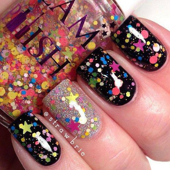 It's like a party exploded on your nails!