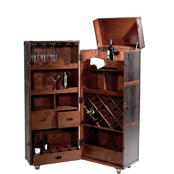 butlers hemingway koffer-bar mit separatem tablett: amazon.de