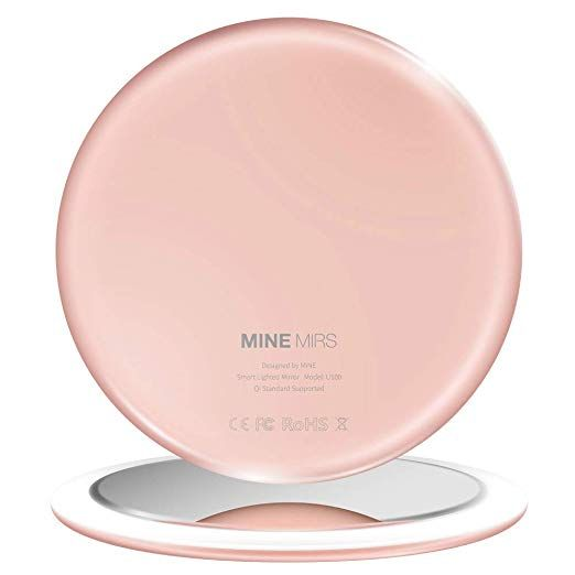 Mine Mirs Smart Lighted Travel Makeup Mirror With Natural Daylight