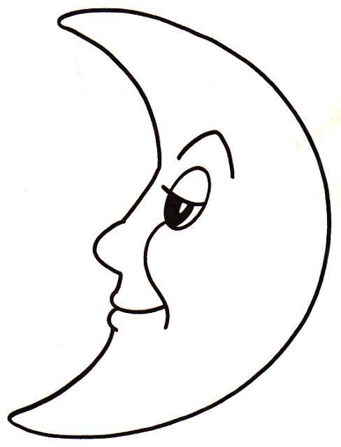 25 Desenhos De Lua Para Pintar Colorir Ou Imprimir Espaco