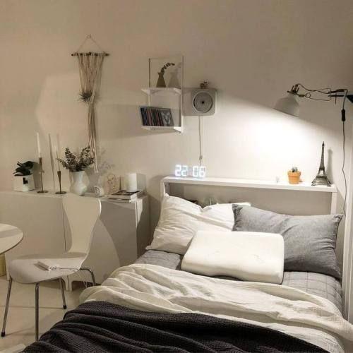 Korean Instagram Asian Pale Aesthetics Acidmixx Minimalist Room Bedroom Design Cozy Room Korean style minimalist aesthetic room
