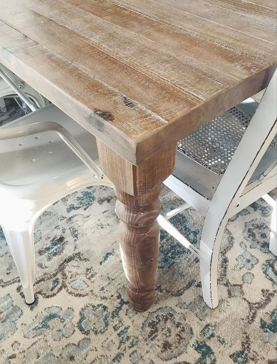 My Farmhouse Table From Wayfair House Of Blooming Dining Room Chairs Upholstered Farmhouse Table Dining