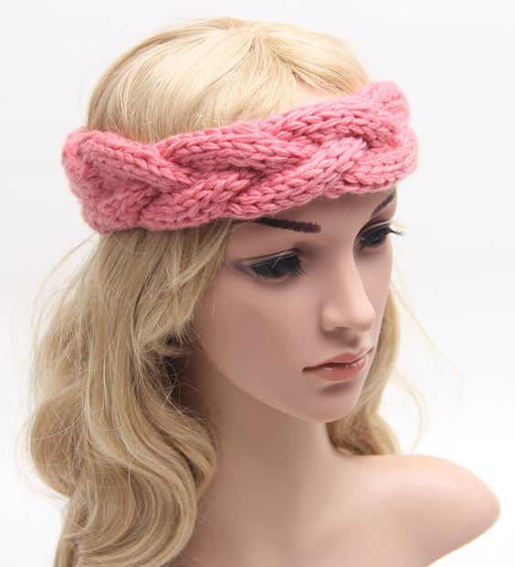 Crochet Hair Towel : turban headbands crochet headbands band turban headband knitted ...