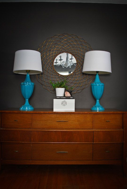 teal lamps for living room