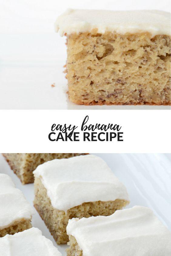 Easy Banana Cake Recipe Recipe Banana Cake Recipe Banana Cake Recipe Easy Banana Recipes Overripe
