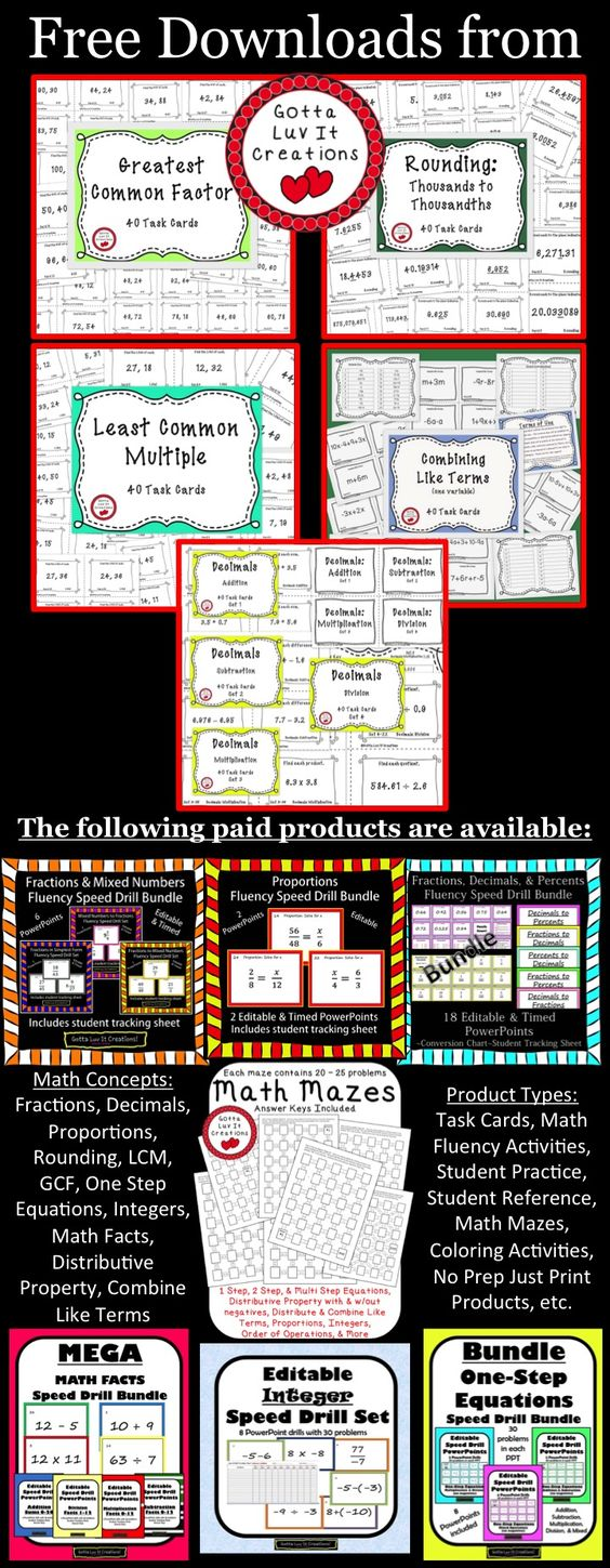 Worksheets Multi Operational Mathematical Maze math facts maze and free task cards on pinterest covering the following concepts rounding decimals all operations